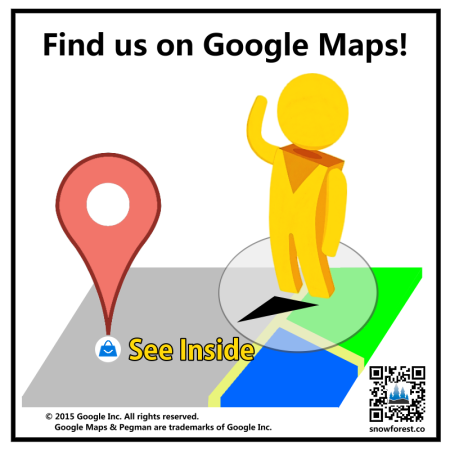 Max Chen Website - Find us on google maps stickers