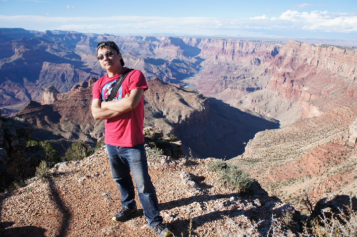 Max in Grand Canyon.